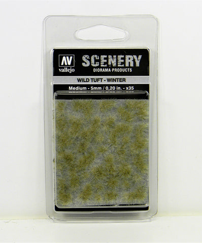Vallejo Scenery Diorama Products- Wild Tuft Winter Medium 5mm