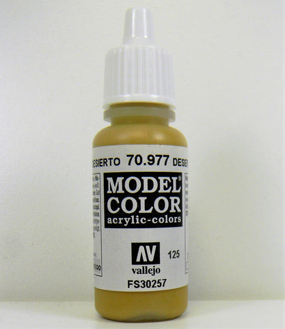 Vallejo Acrylic Model Color- Desert Yellow