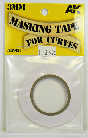 AK Interactive Masking Tape For Curves- 3mm