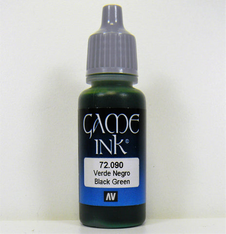 Vallejo Acrylic Game Color Ink- Black Green