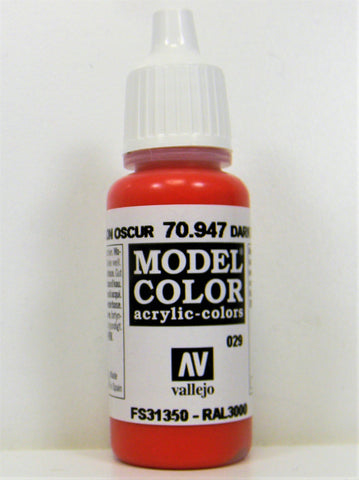 Vallejo Acrylic Model Color- Dark Vermillion