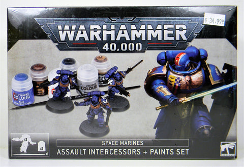 Games Workshop Citadel- Warhammer 40,000 Space Marines Assault Intercessors And Paints Set 60-11