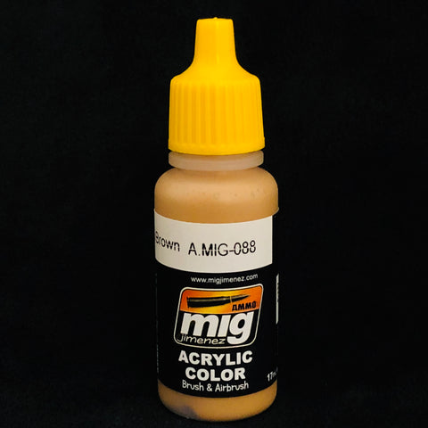 Ammo Acrylic Color: AMIG0088 Khaki Brown