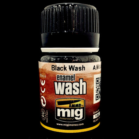 Ammo Enamel Wash-Black Wash
