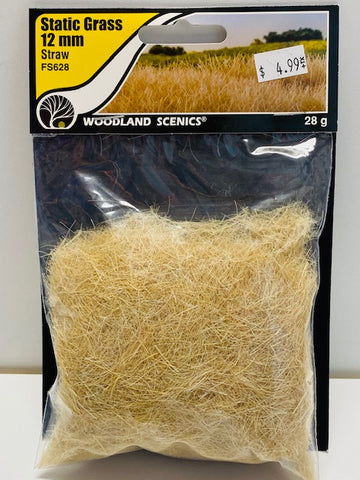 Woodland Scenics Static Grass 12mm Straw FS628