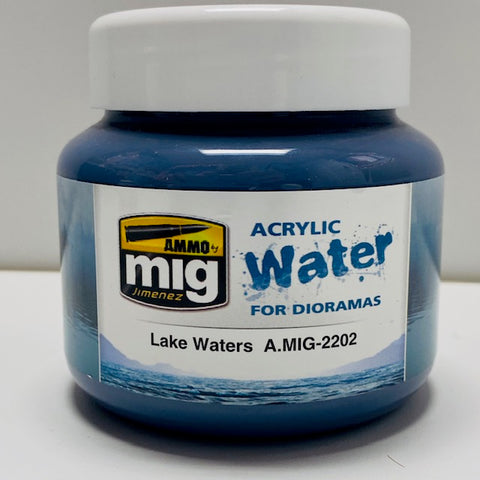 Ammo By Mig Jimenez Acrylic Water For Dioramas Lake Waters A.MIG-2202