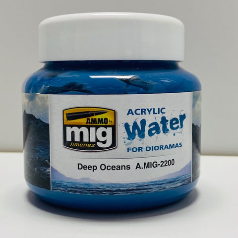 Ammo By Mig Jimenez Acrylic Water For Dioramas Deep Oceans A.MIG-2200