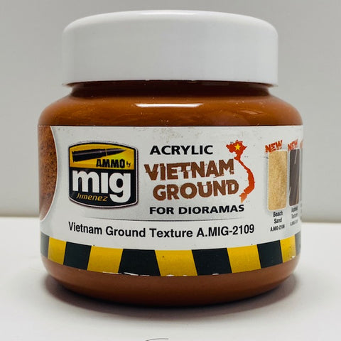 Ammo By Mig Jimenez Acrylic Vietnam Ground For Dioramas Vietnam Ground Texture A.MIG-2109