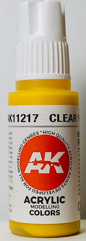 AK Interactive 3rd Generation Acrylic Modeling Colors Clear Yellow