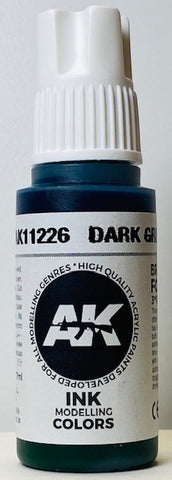 AK Interactive 3rd Generation Ink Modeling Colors Dark Green Ink AK11226