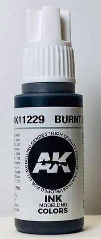 AK 3rd Generation Interactive Ink Modeling Colors Burnt Umber Ink AK11229