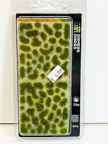 Gamers Grass Tufts Bright Green 6mm Wild Tufts 70x GG2-BG