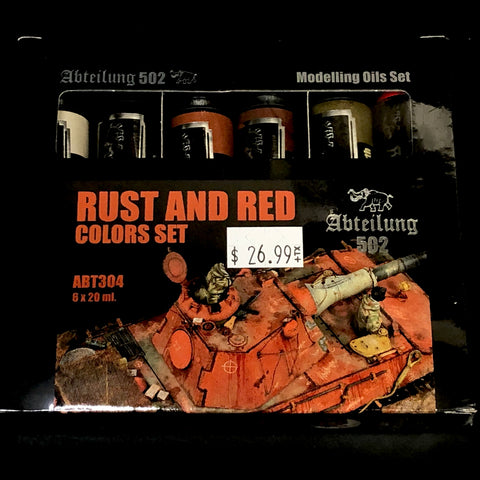 Abteilung 502 Rust and Red Colors Set