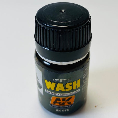 Ak Interactive Enamel Wash- For Nato Camo Vehicles AK 075