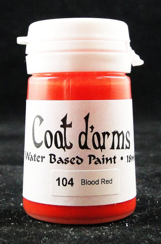 Coat D'arms Acrylic Paint Blood Red 104