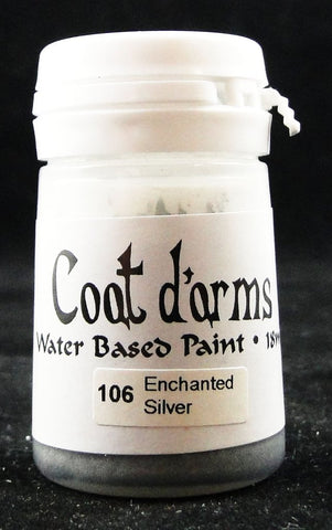 Coat D'arms Acrylic Paint Enchanted Silver 106