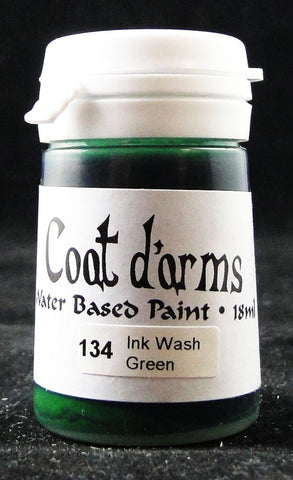 Coat D'arms Acrylic Paint Ink Wash Green 134