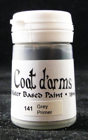 Coat D'arms Acrylic Paint Grey Primer 141