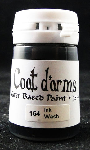 Coat D'arms Acrylic Paint Ink Wash Black 154