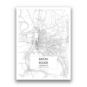 Map of Baton Rouge