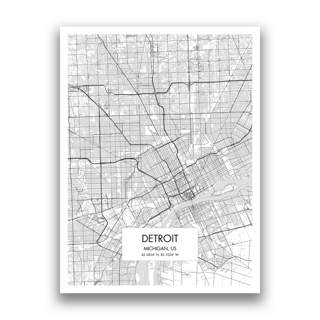 Map of Detroit