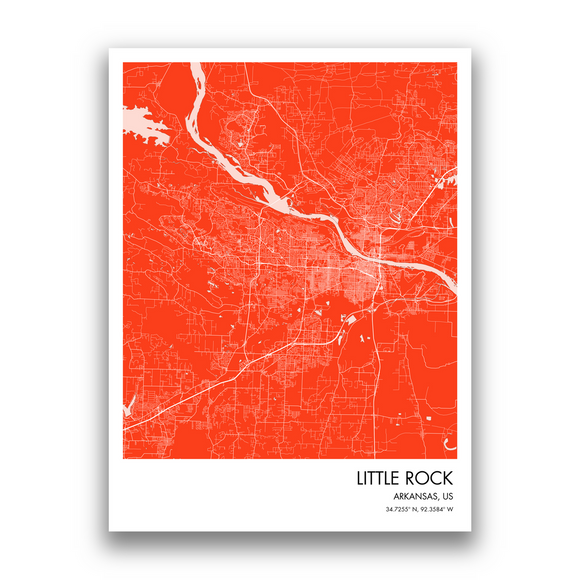 Map of Little Rock