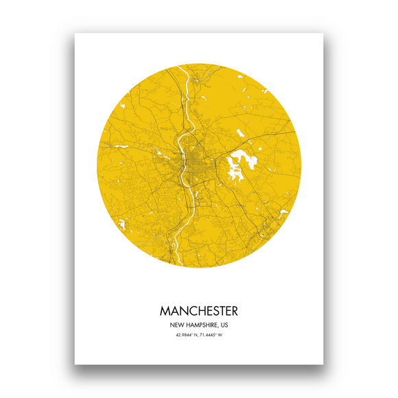 Manchester Map, 9 Map Colors, 5 Layouts, Manchester Map Poster, Map of Manchester