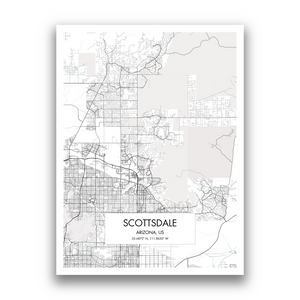 Map of Scottsdale