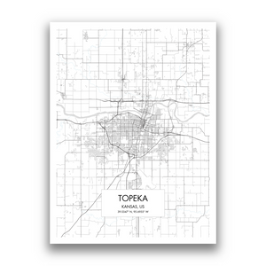 Map of Topeka