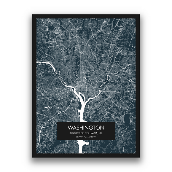 Washington Map, 9 Map Colors, 5 Layouts, Washington Map Poster, Map of Washington