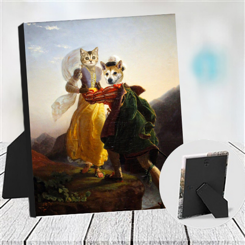 RUNAWAY LOVERS - MULTI-PET TABLETOP CANVAS (Premium)