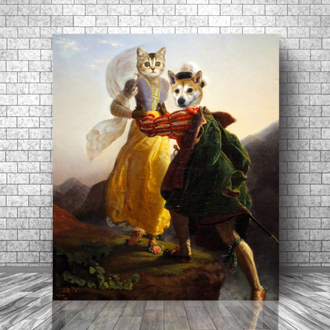 RUNAWAY LOVERS - MULTI-PET CANVAS (Premium)