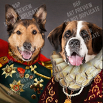 KING ANTHONY & QUEEN ISABEL - MULTI-PET DIGITAL ART PREVIEW