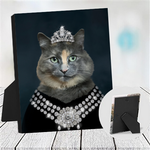 DIAMOND QUEEN - CUSTOM CAT TABLETOP CANVAS (Premium)