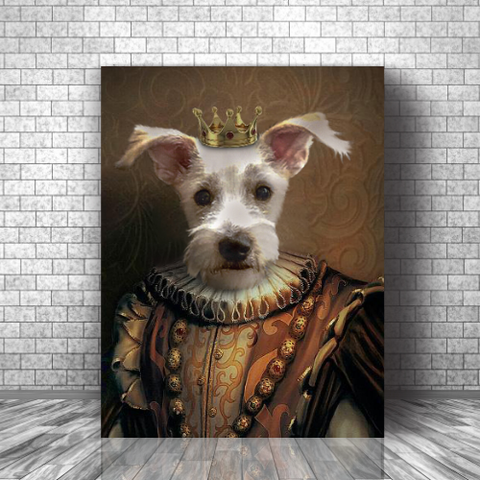 MEDIEVAL KING - CUSTOM DOG CANVAS (Premium)
