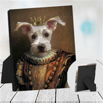 MEDIEVAL KING - CUSTOM DOG TABLETOP CANVAS (Premium)