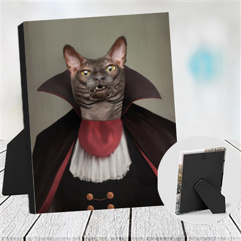 DRACULARW - CUSTOM CAT TABLETOP CANVAS (Premium)