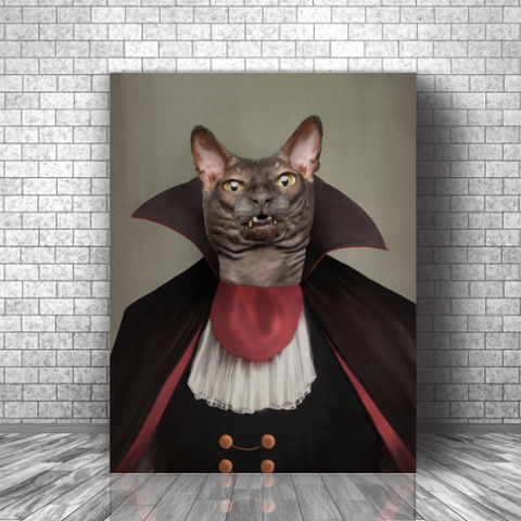 DRACULARW - CUSTOM CAT CANVAS (Premium)