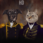 NAVY & ADMIRAL - MULTI-PET CUSTOM DIGITAL ART PREVIEW