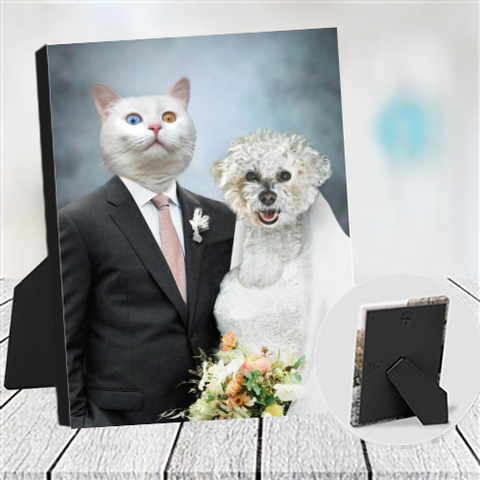 MR & MRS- CUSTOM COUPLES TABLETOP CANVAS (Premium)