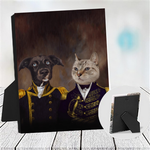 NAVY & ADMIRAL - CUSTOM COUPLES TABLETOP CANVAS (Premium)