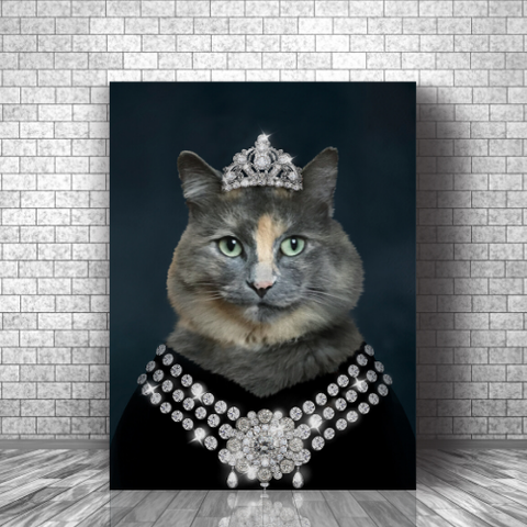 DIAMOND QUEEN - CUSTOM CAT CANVAS (Premium)