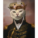 THE ADMIRAL - PETS CUSTOM DIGITAL ART PREVIEW