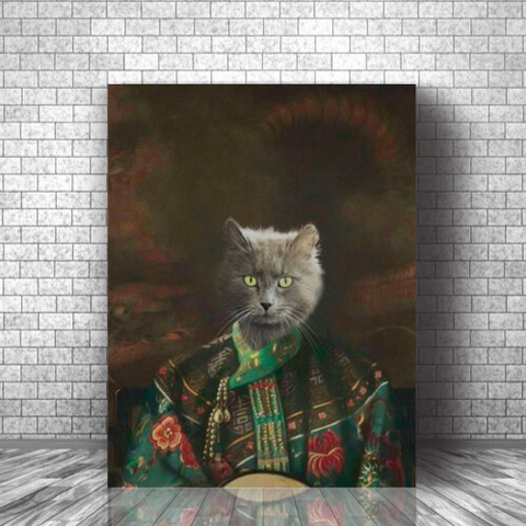 CROWN PRINCESS- CUSTOM CAT CANVAS ( Premium)