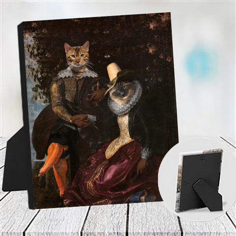 LORD GERMAIN & LADY ANNE - MULTI-PET TABLETOP CANVAS (Premium)