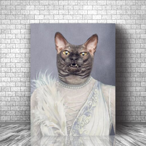 BALLERINA - CUSTOM CAT CANVAS (Premium)