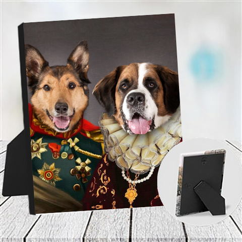 KING ANTHONY & QUEEN ISABEL - MULTI-PET TABLETOP CANVAS (Premium)