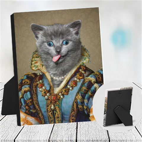 MAIDEN LADY - CUSTOM CAT TABLETOP CANVAS (Premium)