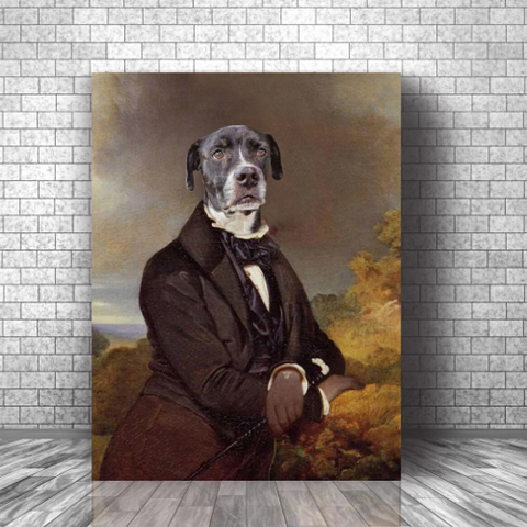 AMUSING ROOKIE - CUSTOM DOG CANVAS (Premium)