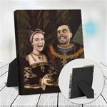 JACK AND HERMIONE- CUSTOM COUPLES TABLETOP CANVAS (Premium)